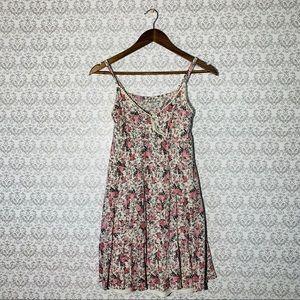 Chloe K Floral Print Peasant Dress Size Medium